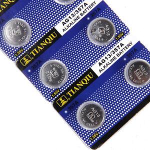5 Pile Batterie Bottone Alkaline AG13 357A LR44 A76 L1154 SR44W RW22 A76