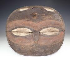 Antico arte tribale etnico-africano Kwele Gabon intagliati legno Mask-RARO!