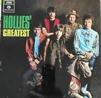 THE HOLLIES HOLLIES' GREATEST LP PARLOPHONE UK BLACK YELLOW LABELS NEAR MINT
