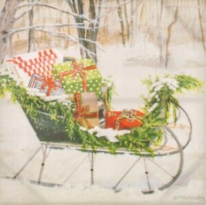 Round Top Collection NWT - Sleigh Of Gifts Canvas Print