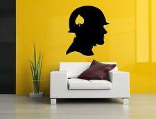 Wall Decor Art Vinyl Sticker Mural Decal Soldier Spade Helmet Head Poster SA400