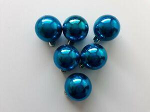 Christbaumkugeln - 6 Weihnachtsbaumkugeln - blau - Ø 4 cm - Kunststoff