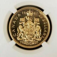1967 Canada Vintage Gold $20 ~ Confederation Centennial Coin ~ SP 63