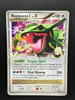 Pokemon Card Rayquaza C LV.X Promo Holo (DP47) Played Condition - Crease