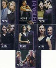 Alias Season 3 Promo Card Tangled 7 Card Preview Set UK Exclusive T1-7