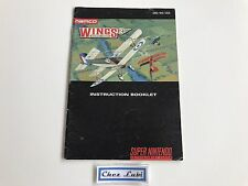 Notice - Wings 2 Aces High - Super Nintendo SNES - NTSC USA