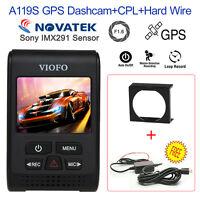 VIOFO A119S V2 Novatek 96660 1080P GPS Auto Dash Kamera+CPL+Harter Draht