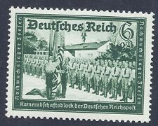 Germany Third Reich 1941 Reichspost Soldiers Nazi Flag 6+9 Stamp MNH WW2 Era