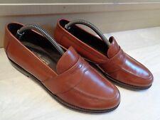 Salvatore Ferragamo tan penny loafer UK 7.5 41.5 mens brown leather slip on Wide