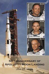 APOLLO 11 Astronaut Armstrong/Collins/Aldrin Moon/Space Stamp Sheet 2019 Grenada