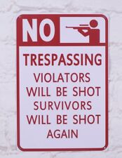 NO TRESPASSING Metal Tin Signs Bar Poster Home Room Wall Decor