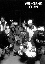 """THE WU-TANG CLAN POSTER """"BLACK & WHITE"""" BRAND NEW """"GROUP"""""""
