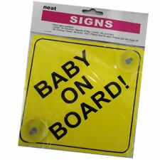 Baby On Board Sign with Suction Cup Vehicle Safety Bright Baby On Board Car Sign