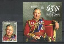 Jersey 2013 65ème anniversaire du Prince de Galles timbre bloc neuf ** 1er choix