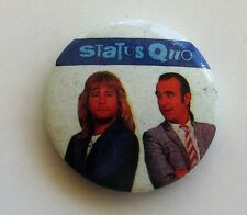 STATUS QUO OLD METAL BUTTON BADGE FROM THE 1980's ROSSI & PARFITT VINTAGE RETRO
