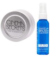 Cinema Secrets Makeup Brush Cleaner, 2 fl oz Spray with Cleansing Tin.
