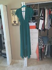 Romeo & Juliet Couture Women's Sheer Maxi Dress  Jungle Green  Sz L NWT
