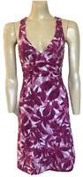 TOMMY BAHAMA Sun Dress Size 8 - 10 Stretch Plunge Neck Wide Cross Straps Pink