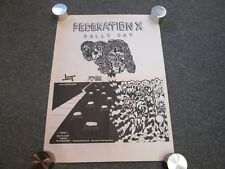 FEDERATION X RALLY DAY PROMO POSTER ESTRUS RECORDS