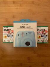 BRAND NEW - Fujifilm Instax Mini 8 Instant Film Camera Ice Blue 40 Film BONUS!