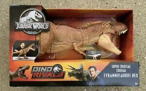 Mattel Jurassic World Super Colossal Tyrannosaurus Rex Dino Rivals NEW/SEALED
