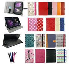 Elegante Portafoglio Universale Custodia Cover con supporto si adatta a 7 inch Tablet & Penna