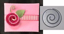 Memory Box Dies Small Pinwheel Posie metal Die 98271 Rolled Flower All Occasion