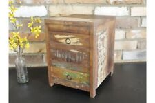 Reclaimed Wood Small 3 Drawer Cabinet