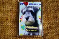 Miniature Schnauzer Gift Fridge Magnet 77 x 51 mm Birthday Gift Mothers Day Gift