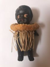 Vintage African American Doll With Grass Skirt Japan Rare
