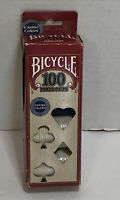 Vintage Bicycle Poker Chips Casino Colors 100 Count