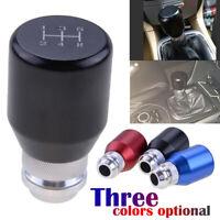New 5 Speed Shift Knob Universal Stick Shifter Manual JDM Aluminum MT Gear Black