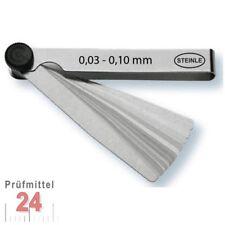 STEINLE Fühlerlehre 0,03 - 0,10 mm 8 -tlg. Abstandslehre Fühlerlehren Fühllehre