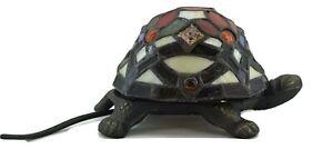 Lampada in stile Tiffany da tavolo tartaruga bianco rosso verde scrivania casa