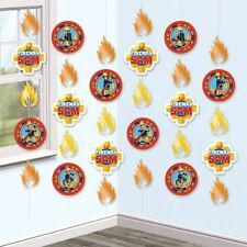 6 x Fireman Sam Birthday Party Decorations Hanging Strings Bunting FREE P&P