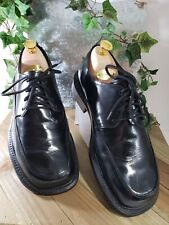Gucci mens Oxford shoes Black square toe size 39 Eur made in Italy