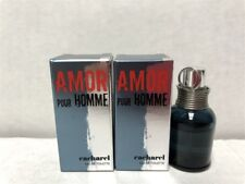 Lot of 2pcs Amor Pour Homme Cacharel 0.1 oz/5ml Eau de Toilette Splash Mini Men