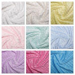 "Dimple Fleece Dot Cuddle Soft Fabric 59""/150cm wide per metre/half Polyester"