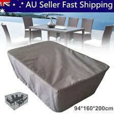 Gray Garden Patio Table Cover Waterproof Outdoor Furniture Shelter Protection