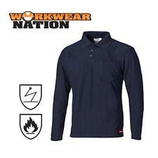 Camicie casual e maglie da uomo blu in cotone con colletto