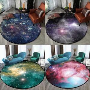 3D Round Nebula Galaxy Non-Slip Livingroom Kitchen Bathroom Floor Mat Rug Carpet