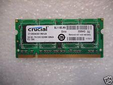 Crucial 1 GB PC2-5300 200 PIN DDR2 SODIMM Laptop Memory RAM CT12864AC667.M8FJ28