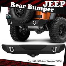 1987-2006 JEEP WRANGLER YJ&TJ REAR BUMPER BLACK TEXTURED HEAVY DUTY REAR GUARDS