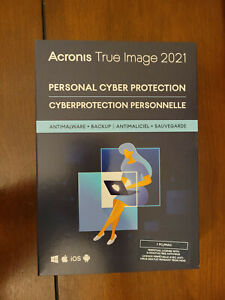 ACRONIS TRUE IMAGE 2021 1 Device PC/MAC Brand New Sealed Box Ships FAST 3 Day !!