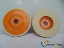 """5 pcs 4"""" 100mm wool wheel for polishing glass and stone Thickness:9mm"""