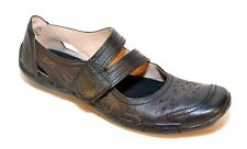 Ros Hommerson Chelsea Black Leather Mary Jane Flats Womens Shoes Size 8 SS (N)