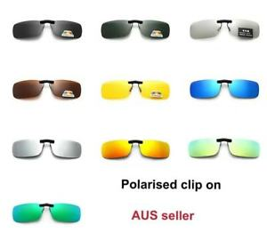 1pcs Polarized UV400 Sunglasses Clip On Driving Glasses Night Vision Len