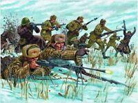 Italeri 1:72 - 6069, WWII Russische Infanterie Winter 48 Figuren, Modellbausatz