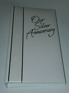 Hallmark Stories Our Silver Wedding Anniversary Keepsake Memory Photo Album