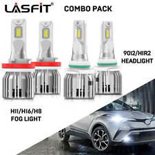LASFIT Combo 9012 LED Headlight Bulb Kit H16 Fog Light for Toyota RAV4 16-2019